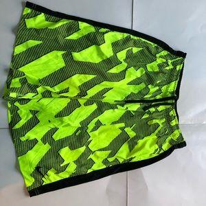 Nike dri fit yellow shorts